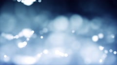 Light Blue & White Blurred Bokeh Orb Shapes - stock footage