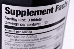 Supplement Facts - stock photo