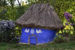 Ancient chicken coop - stock photo