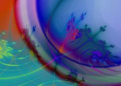 Detail of soapbubble - digitally rendered fractal raster illustration Stock Illustration
