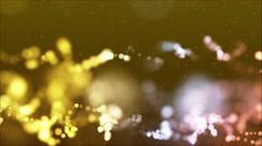 Golden Yellow, White & Orange Bokeh Orb Shapes - stock footage
