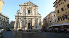 Sant'Andrea della Valle Church Stock Footage