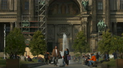 The beautiful facade of Berliner Dom Stock Footage