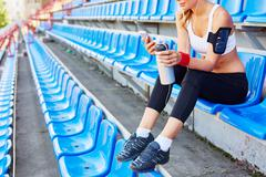 Resting at stadium Kuvituskuvat