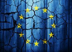 Cracked flag of Euro Nations Stock Illustration