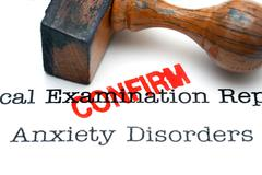 Anxiety disorder confirm - stock photo