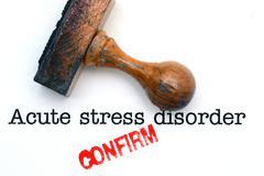 Acute stress disorder - stock photo