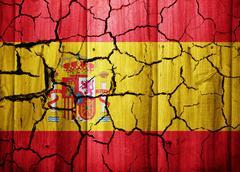 Cracked flag of Spain Stock Illustration