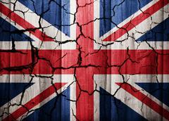 Cracked flag of United Kingdom Stock Illustration