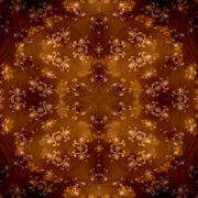 Stock Illustration of Brown decorative shining fractal floral seamless pattern