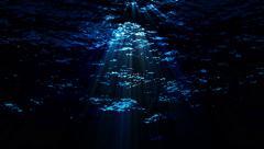 Dark underwater ocean waves ripple and flow - Water FX0320 HD, 4K - stock footage
