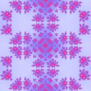 Pink purple floral decorative seamless oriental pattern in victorian style Stock Illustration