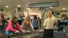 Airport Security Screening  - stock footage