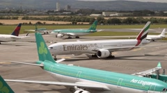 Emirates B777 Dublin Airport  Stock Footage
