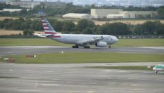 American Airlines A330 at Dublin Airport Stock Footage
