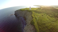 Cap Blanc lighthouse in Gaspesie Stock Footage