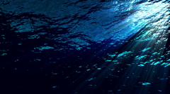 Underwater ocean waves ripple and flow with light rays - Water FX0321 HD, 4K - stock footage