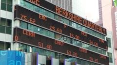 Stock market shares ticker - stock footage