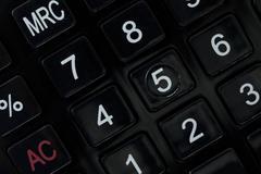 Closeup image of calculator keyboard Stock Photos