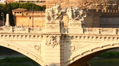 Castel Sant'angelo Stock Footage