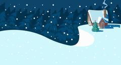 Christmas Scene. - stock illustration