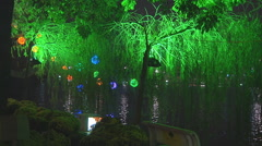 Lights at night, New Year in Ho Chi Minh City - stock footage