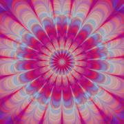 Pink chakra - symmetrical regular meditation mandala Stock Illustration