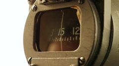 Dusty Compass in Jet Airplane Cockpit, Close Up - stock footage