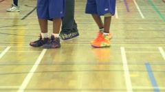 Playing Basketball Inside a Gym Stock Footage