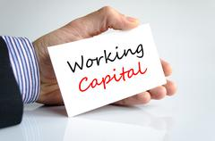 Working capital Text Concept Stock Photos