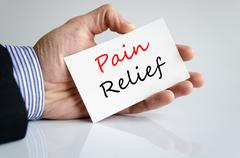 Pain relief Text Concept - stock photo