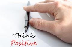 Think positive Text Concept Kuvituskuvat