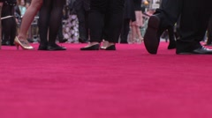 Walking on the red carpet - stock footage