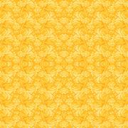 Seamless pattern yellow orange - stock illustration