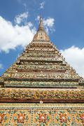 Stock Photo of Authentic Thai Architecture in Wat Pho, Bangkok
