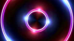 Stock Video Footage of red blue Lens ring flares double circle