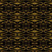 Seamless pattern golden black Stock Illustration