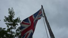 Stock Video Footage of Colonial British Flag