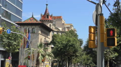 Barcelona Architecture Provincial Council Building Diputació de Barcelona Stock Footage