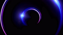 Stock Video Footage of blue double ring flares