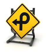 Road sign - crossroad - stock illustration
