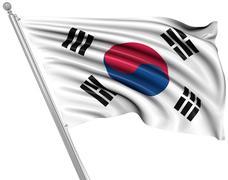 Flag of South Korea - stock illustration