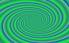 Green blue radiant swirl background Stock Illustration
