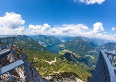 Stock Photo of Obertraun, Lake Hallstatt - view from Dachstein