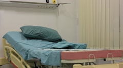 Hospital bed Stock Footage