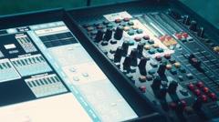 Audio mixer, live concert Stock Footage