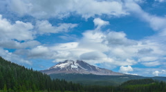 Rolling clouds over Mount Hood Time Lapse. Stock Footage