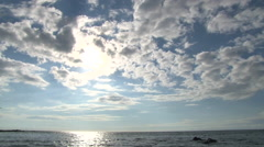 Sun and Clouds Over Big Island Ocean Stock Footage