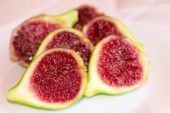 Figs cut into halves - stock photo