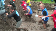 Dirty cross-country race stage. Tyumen. Russia Stock Footage